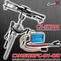 CopterX (CX450DFC-01-00-CX-3X1000) CX450DFC Flybarless Main Rotor Head (Black) with CopterX CX-3X1000 Flybarless Gyro Combo