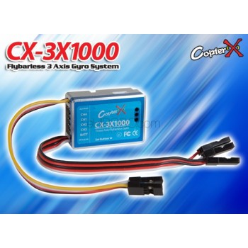CopterX (CX-3X1000) Flybarless 3 Axis Gyro SystemFlybarless / Multi-blades