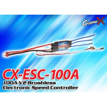 CopterX (CX-ESC-100A) 100A V2 Brushless Electronic Speed ControllerCopterX Electronic Parts