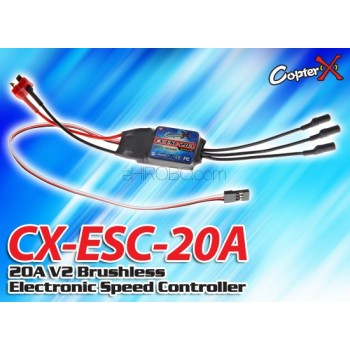 CopterX (CX-ESC-20A) 20A V2 Brushless Electronic Speed ControllerCopterX CX 250 Flybarless Parts