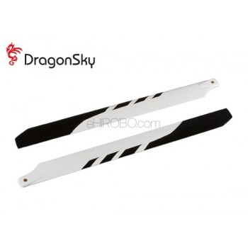 DragonSky (DS-M-325G-05) Glass Fiber Main Blades 325mmMain Rotor Blades - Glass Fiber