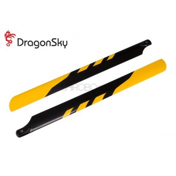 DragonSky (DS-M-430G-07) Glass Fiber Main Blades 430mmMain Rotor Blades - Glass Fiber