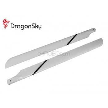 DragonSky (DS-M-600G-01) Glass Fiber Main Blades 600mmMain Rotor Blades - Glass Fiber
