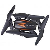 JJRC F12W foldable RC FPV Drone - 2.4G 4CH 6 Axis Gyro Headless Mode RC Quadcopter RTF - One-key Return