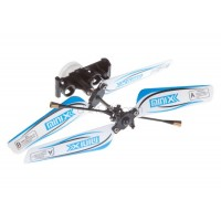 SH (SH-6025-1-HEAD-B) 6025-1 MINIX 3.5CH Helicopters Complete Rotor Head Assembly Set (Blue)