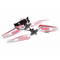 SH (SH-6025-1-HEAD-R) 6025-1 MINIX 3.5CH Helicopters Complete Rotor Head Assembly Set (Red)