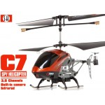 SH (SH-6030-O) C7 3.5CH Helicopter with Gyroscopes System and video Camera (Orange)