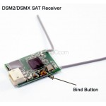 DSM2/DSMX Compatible Satellite Receiver for DSM2 DSMX Radios Transmitter RC FPV Racing Drone