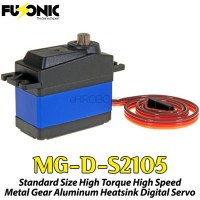 Fusonic (MG-D-S2105) Standard Size High Torque High Speed Metal Gear Aluminum Heatsink Digital Servo 56G 5KG 0.07sec