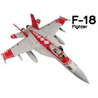 GL (812-2) F-18 Fighter EPO Electric Duct Fan Airplane Kit (Red Viper)
