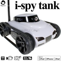 Happy Cow (HC-777-287-W) iPhone Controlled i-spy Tank with First Person View Camera RTR (White) - WIFI