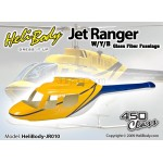 HELIBODY (HELIBODY-JR010) Jet Ranger W / Y / B Glass Fiber Fuselage - 450 Class