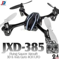 Jin Xing Da (JXD-385-BW-M2) Flying Saucer Aircraft 3D 6 Axis Gyro 4CH UFO RTF (Black White, Mode2) - 2.4GHz