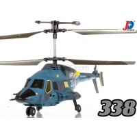 Jin Xing Da (JXD-338-B) SkyWolf 3CH RTF Helicopter with LED and Gyroscopes System (Blue)