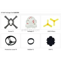 KINGKONG ET100 Carbon Fiber Frame Kit Set Racing Drone Spare Parts