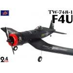 Lanyu (TW-748-1-A) 4CH EPO ARTF Aeroplane (Black) - 2.4GHz
