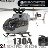 Nine Eagles (NE-R/C-130A-EC145-AG) SOLO PRO 130 EC145 6CH Flybarless Licensed Micro Helicopter with J6 PRO Transmitter RTF (Army Gray) - 2.4GHzNine Eagles Helicopters