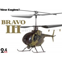Nine Eagles (NE-R/C-312A-BRAVOIII-C) 4CH Bravo III Micro Helicopter RTF (Camouflage) - 2.4GHz