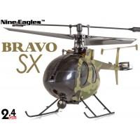 Nine Eagles (NE-R/C-320A-BRAVO-SX-C) 4CH Bravo SX Micro Helicopter RTF (Camouflage) - 2.4GHz