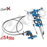 CopterX (CX250-01-30) Metal Main Rotor Head Set & Metal Tail Rotor Set