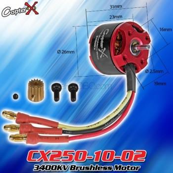 CopterX (CX250-10-02) 3400KV Brushless MotorCopterX CX 250 Flybarless Parts
