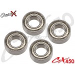 CopterX (CX450-09-07) Bearings(MR84ZZ) 4x8x3mm