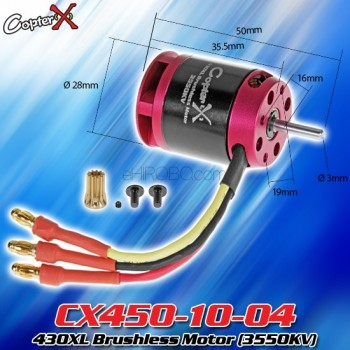 CopterX (CX450-10-04) 430XL Brushless Motor (3550KV)CopterX Electronic Parts