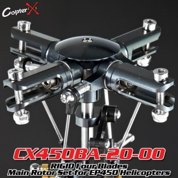 CopterX (CX450BA-20-00) RIGID Four Blades Main Rotor Set for 450 HeliFlybarless / Multi-blades