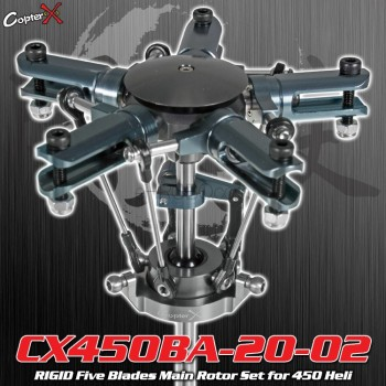 CopterX (CX450BA-20-02) RIGID Five Blades Main Rotor Set for 450 HeliFlybarless / Multi-blades