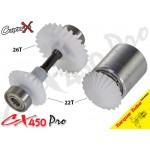 CopterX (CX450PRO-03-14T) Tail Drive Gear Set (Boom Lock)