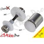 CopterX (CX450PRO-03-14T) Tail Drive Gear Set (Boom Lock)