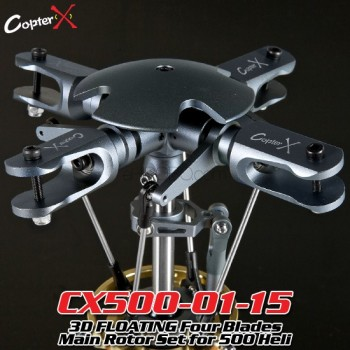 CopterX (CX500-01-15) 3D FLOATING Four Blades Main Rotor Set for 500 HeliFlybarless / Multi-blades