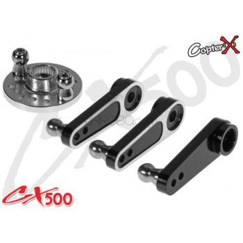 CopterX (CX500-08-03) 25T Aluminum Servo Arm Set (for Futaba, Align, Savox, ACE, Orion)CopterX CX500FBL-01-00 Parts