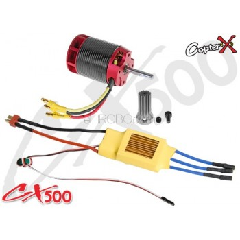 CopterX (CX500-10-00) 500L 1600Kv Brushless Motor with Pinion Gear & 70A ESC with BECCopterX CX 500 Parts