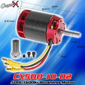 CopterX (CX500-10-02) 500L 1600Kv Brushless MotorCopterX Electronic Parts