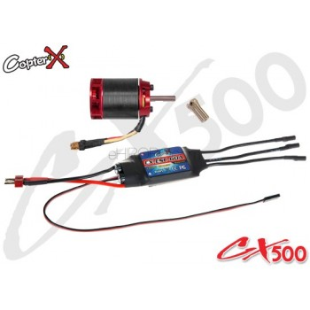 CopterX (CX500-10-10) 500L 1600Kv Brushless Motor with Pinion Gear & 60A ESC with BECCopterX Electronic Parts
