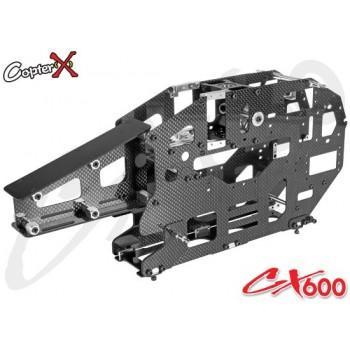 CopterX (CX600BA-03-01) Carbon Fiber & Metal Main FrameCopterX CX 600E PRO Parts