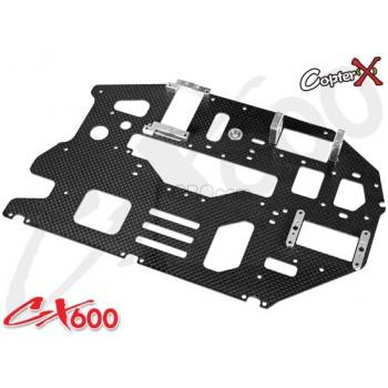 CopterX (CX600BA-03-03) Carbon Main Frame RightCopterX CX 600E PRO Parts