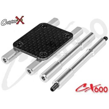CopterX (CX600BA-03-17) Carbon Fiber Gyro MountCopterX CX 600E PRO Parts