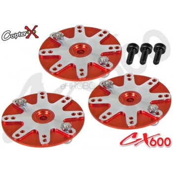 CopterX (CX600BA-08-01) 25T Aluminum Servo Horns (for Futaba, Align, Savox, ACE, Orion)CopterX CX 600E PRO Parts