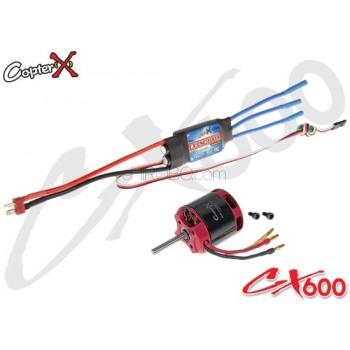CopterX (CX600BA-10-03) 600XL 1100KV Brushless Motor with 100A Brushless ESCCopterX Electronic Parts