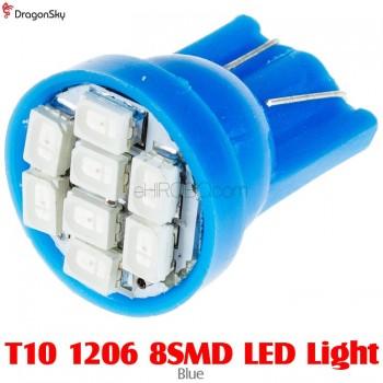DragonSky (DS-LED-SMD-8-B) T10 1206 8SMD LED Light - Blue