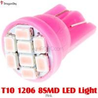 DragonSky (DS-LED-SMD-8-P) T10 1206 8SMD LED Light - Pink