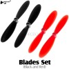 HUBSAN (HS-H107-A35) Blades Set (Black and Red)