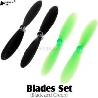 HUBSAN (HS-H107-A36) Blades Set (Black and Green)