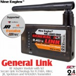 Nine Eagles (NE480192) General Link RF Adapter Module with SLT Secure Link Technology for FUTABA, Hitec, JR, Spektrum and WALKERA Transmitter - 2.4GHz
