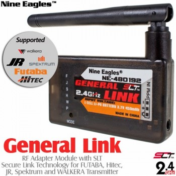 Nine Eagles (NE480192) General Link RF Adapter Module with SLT Secure Link Technology for FUTABA, Hitec, JR, Spektrum and WALKERA Transmitter - 2.4GHzNine Eagles 287A Parts