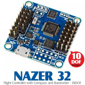 AfroFlight NAZER 32 (NAZE32)Flight Controller with Compass and Barometer - 10DOF