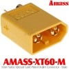 Amass (AMASS-XT60-M) XT60 Nylon Shroud Gold Plated Bullet Connector - Male
