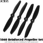 ATG (ATG-5040-P-BK) 5040 Reinforced Propeller Set with Balance Injection Molding for Mini Quadcopter (2CW+2CCW, Plastic, Black)